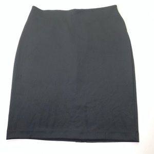 Women's Size 20W Solid Black Stretch Pencil Skirt
